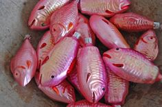 pink fish ornaments // all the luck in the world-blog|Archive|December 2011