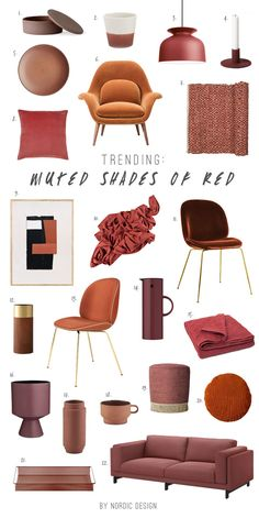 Muted shades of burgundy, burnt orange, terracotta and rust are very in right now, and perfect for the season!