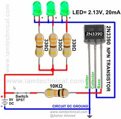 NPN Transistor 2N3390 as a Switch | IamTechnical.com