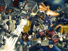 cybertron battle by ~emanz on deviantART