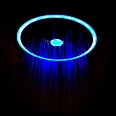 Luminescent shower Indoor Outdoor, Bathrooms, Glow, Shower, Cool Stuff, Black, Design, Rain Shower Heads, Bathroom