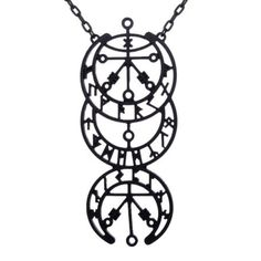 Galdrastafir Moon Phases Necklace - We are the Hellaholics