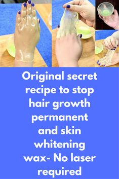 Original secret recipe to stop hair growth permanent and skin whitening wax- No laser required Today I am telling you how to make peel off wax at home, this peel off wax can remove facial and body hair permanently. Here is the method to prepare peel off wax- Ingredients- 2 tbsp of Agar agar gelatin(veg gelatin powder) Milk as required ½ tbsp. baking soda 1 tbsp cucumber juice Method- 1.   … #SkinWhiteningHowToMake