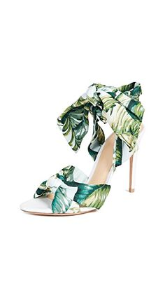 Alexandre Birman Kacey Wrap Sandals In Green/white Alexandre Birman, Color Stories, Fashion Heels, Beautiful Shoes, Shoe Collection, Unique Fashion, Savannah Chat, Jimmy Choo, Stiletto Heels