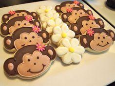 Adorable Monkey Cookies