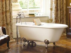 Victoria + Albert Wessex Single Ended Stone Bath by Old Fashioned Bathrooms has Edwardian styling ideal for a traditional bathroom