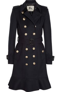 Burberry London Wool and cashmere-blend trench coat