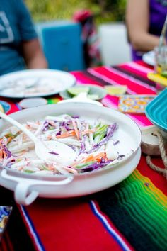 Rainbow Jicama Salad Recipe. A colorful salad to make for a casual New Year's Eve fiesta! Dairy free and gluten free! | ¡HOLA! JALAPEÑO