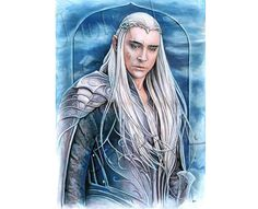 Original painting  The Elven King  420 300 mm 16.54