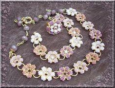 violettaparure- moja propozycja: zastąpić ogniwka wspólnym płatkiem sąsiadujących kwiatków