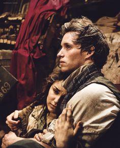Eponine (Samantha Barks) and Marius (Eddie Redmanye) at the Barricade in Les Miserables - Love you Eponine!!!