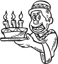 the boy happy kwanzaa candles coloring page