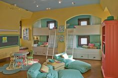bedrooms that look like playrooms - I like this color scheme