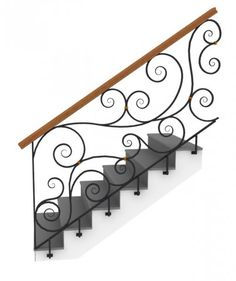 Stairs Loft Railing In Home Outdoor Stair Wrought Iron