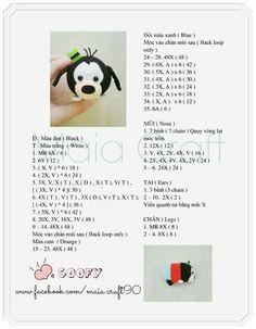 Crochet Tsum Tsum Groopy Crochet Doll Pattern, Crochet Patterns Amigurumi, Crochet Dolls, Kawaii Crochet, Cute Crochet, Amigurumi Free, Amigurumi Doll, Amigurumi For Beginners, Tsumtsum