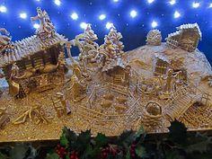il nostro anno in Italia: Presepi—Christmas Nativity Scenes-made with pasta