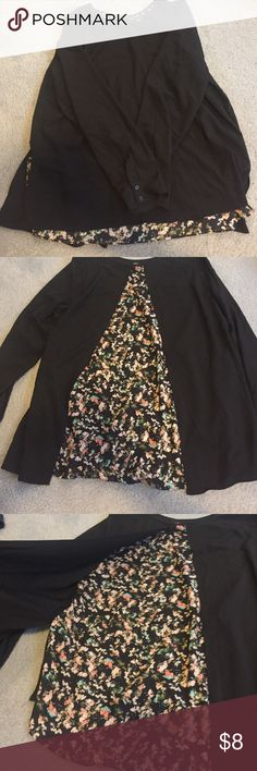 NWOT Paraphrase Black/Floral Split Back Blouse This blouse is solid black in the front. The back is floral with a split back overlay. NEVER WORN!! Slightly wrinkled (as shown) from being folded. Perfect condition! Paraphrase Tops Blouses