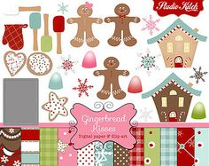 Christmas Digital Embellishments & Digital Papers, clip-art. Scrapbooking, Card Making - INSTANT DOWNLOAD - PU and Ltd. Commercial Use