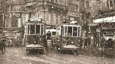Karlı bir günde #Galatasaray (~1960) #Beyoğlu #istanbul