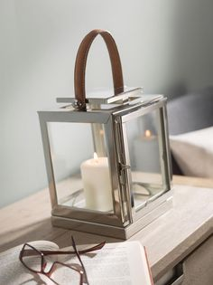 Lovely silver lanterns with leather Mason Jar Candles, Candels, Lantern Candle Holders, Candle Lanterns, Silver Lanterns, How To Make Lanterns, Dream Decor, Vases Decor, Interior Lighting