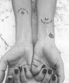 62 Unique Tattoos You'll Want to Get With Your Best Friend – Page 15 of 62 – Kornelia Beauty 62 Unique Tattoos You'll Want to Get With Your Best Friend – Page 15 of 62 best friend tattoos, friendship tattoos, couple tattoos, matching tattoos. Mom Daughter Tattoos, Small Sister Tattoos, Tattoos For Daughters, Little Tattoos, Mini Tattoos, Small Tattoos, Small Matching Tattoos, Tattoo Sister, Petite Tattoos