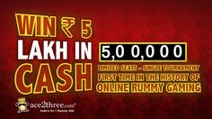 Become Rich this Diwali Pay Rs 50 and get assured CashBack of 1000 Rs  Play Rummy and  win Rs 20 Lacs @ Ace2three