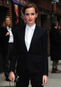She looks better in suit than all male population