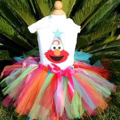 Elmo Birthday elmo Tutu