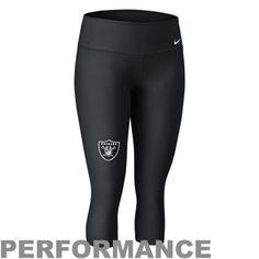 Nike Oakland Raiders Ladies Performance Capri Pants - Black
