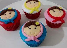 Muito lindos esses cupcakes de Matrioska, adorei! Por @alessandracupcake ❤️ #kikidsparty