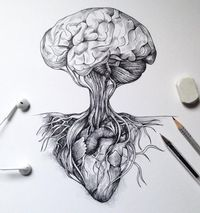 Brain as a tree and heart for roots