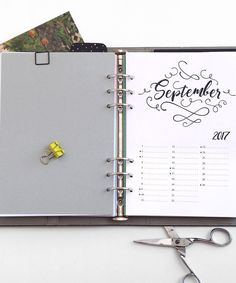 Kalendereinlage PUSLO, hier im Filofax Domino A5, auch in den Formaten Personal, Pocket und A4 erhältlich, Datum individuell