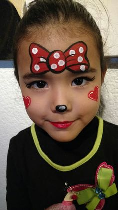 Kids Face Painting Easy, Girl Face Painting, Belly Painting, Face Painting Designs, Paint Designs, Face Painting Tutorials, Minnie Mouse Face Painting, Tinta Facial, Easter Face Paint