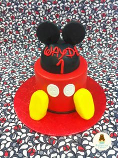 Mickey Mouse 1st Birthday Cake Dani Borow Cartoon Character Cakes