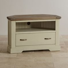 Isabella Brushed Acacia and Painted Corner TV Cabinet