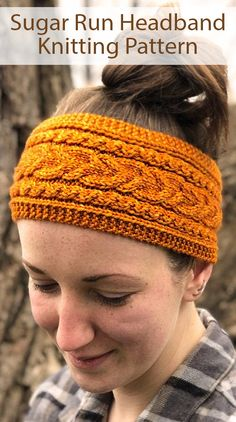 Kniting Pattern for Sugar Run Headband - Cabled headband featuring three-stitch braided cables on each side framing the large alternating cable in the center. Uses yds m) worsted weight yarn. Designed by Apiary Knits Knitting Patterns Free, Free Knitting, Baby Knitting, Crochet Patterns, Crochet Headband Pattern, Fabric Headbands, Vintage Crochet, Knitting Projects, Sugar