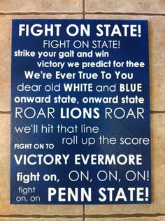 Penn State Fight Song Subway Art by on Etsy Fight Song, Alma Mater, Dream School, I School, Pennsylvania State University, Ps I Love, Happy Valley, State College, Subway Art