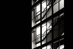 Windows. Birmingham, UK, 2013, Canon EOS 600 D.  #window #windows #light #corridor #floor #floors #shadow #contrast #fivewayshouse #fiveways #birmingham #uk #five #ways #architecture #design #architektur #modern #glass #bw #bnw #BlacknWhite #BlackandWhite #black #white #interior #blackwhite