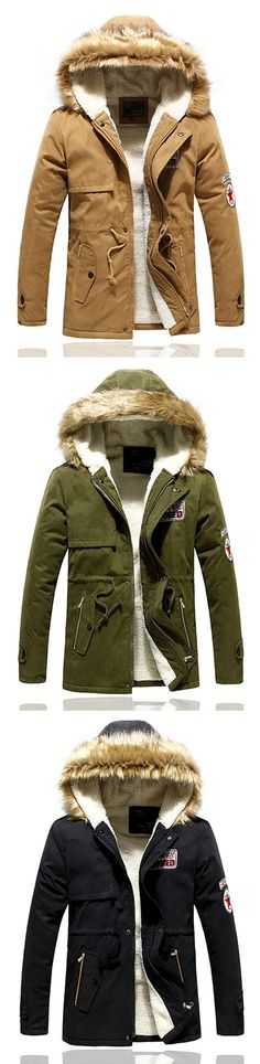 Winter Wool Hooded Thick Warm Coat /Jacket for #men #fashion #style
