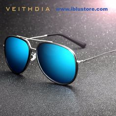 VEITHDIA Brand Fashion Sun Glasses Polarized Color Coating Mirror Driving Sunglasses Male Oculos masculino For Men/Women Buy Sunglasses, Retro Sunglasses, Polarized Sunglasses, Mirrored Sunglasses, Stylish Sunglasses, Pilot, Best Online Stores, Womens Clothing Stores, Women's Clothing
