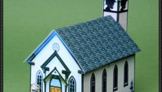 [New Paper Model] Simple Village Church Free Building Paper Model Download on PaperCraftSquare
