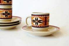 vintage NATIVE tea set /  via Etsy.