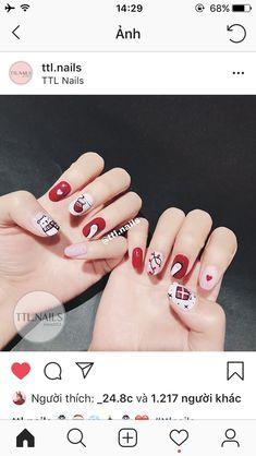 Cute Nail Art, Gel Nail Art, Gel Nails, Manicure, Christmas Verses, Christmas Nail Art, All Things Christmas, Love Nails, How To Do Nails