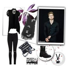 """""""He and I"""" by peterpan-lover-jdb on Polyvore featuring Miss Selfridge, Parinda, Steve Madden, Maison Margiela, WearAll, men's fashion and menswear"""