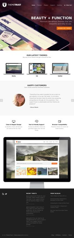 Clean, flat and minimal web design. Love the execution of the giant, full screen image background.