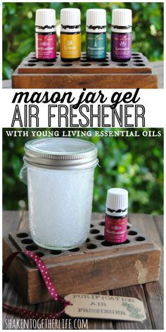 DIY mason jar gel air fresheners with Young Living essential oils