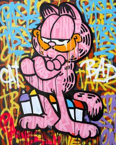 SKEPA – If Garfield was a graffiti artistYou can find Graffiti artists and more on our website.SKEPA – If Garfield was a graffiti artist Banksy Graffiti, Street Art Banksy, Murals Street Art, Graffiti Art Drawings, Images Graffiti, Graffiti Doodles, Graffiti Cartoons, Graffiti Wall Art, Best Graffiti
