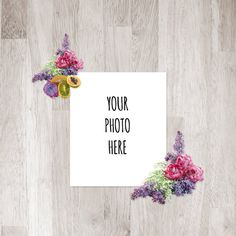 Instant Digital Download Pink and Purple Flowers by ChangingVases, $5.00