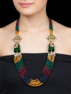 Multicolor Ethno Necklace by Anjali Jain
