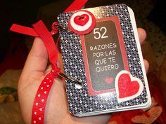 52 razones por las que te quiero. http://sorpresasparatupareja.com/2014/11/26/52-razones-por-las-que-te-quiero/